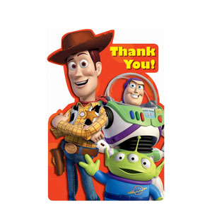 Toy Story 3 Thank You Cards- 8ct