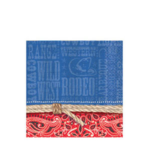 Bandana Ranch Beverage Napkins - 16ct