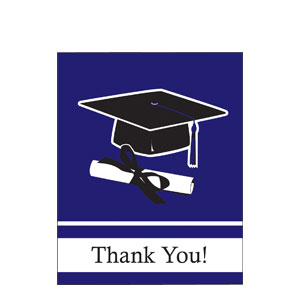 Purple Grad Thank You Card