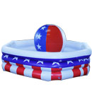 Patriotic 3-Ring Inflatable Cooler