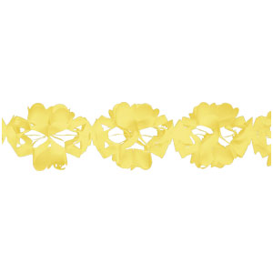 Paper Tissue Garland - Yellow