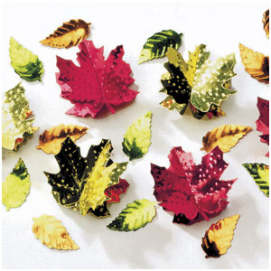 3-D Leaves Confetti Mix