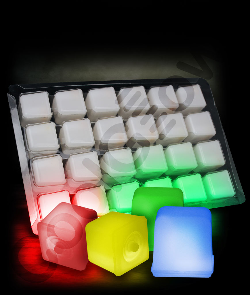 Fun Central G707 Glow in the Darking Ice Cubes - Assorted