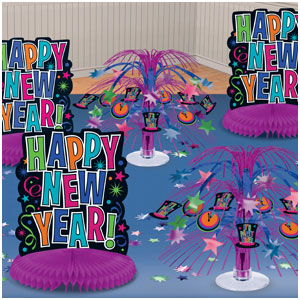 New Years Table Decorating Kit- Jewel Tone 11pc