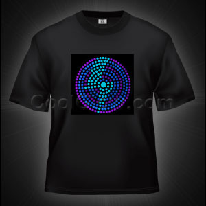 LED Sound Activated T-Shirt - Lightning Bolt