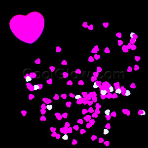 Pink & Silver Hearts Confetti Pack