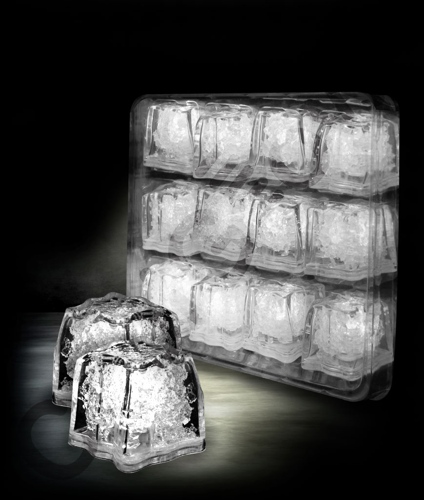 LED Litecubes Brand Ice Cubes - White