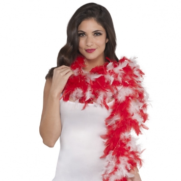 Peppermint Sparkle Feather Boa