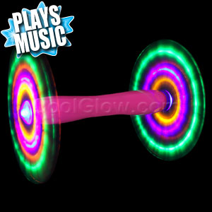 LED Double Rainbow Spinner - Pink