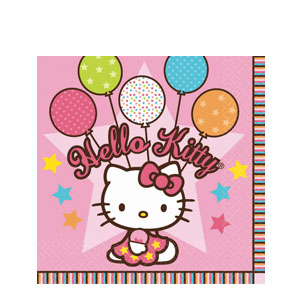 Hello Kitty Balloon Dreams Luncheon Napkins- 16ct