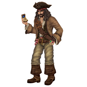 Pirate Captain Cutout - 6ft