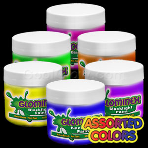 Glominex™ Blacklight UV Reactive Paint Assorted Pints - 6