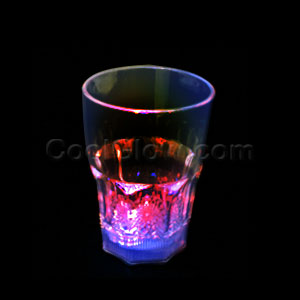 LED 12oz Liquid Activated Flashing Rocks Glass - Multicolor