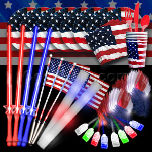 4th of July LED Party Package - Silver