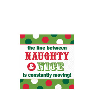 Naughty Nice Cocktail Napkins- 16ct