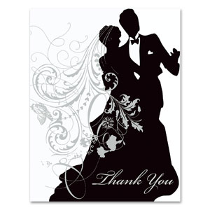 Silhouette Thank You Cards