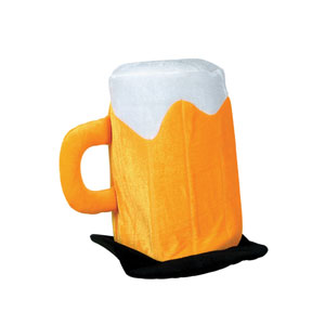 Plush Beer Mug Hat - Full Size