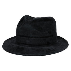 Black Felt Gangster Hat- 12in