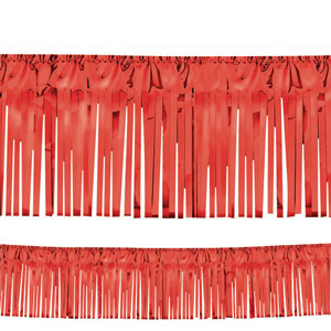 Foil Fringe Garland - Red - 20ft