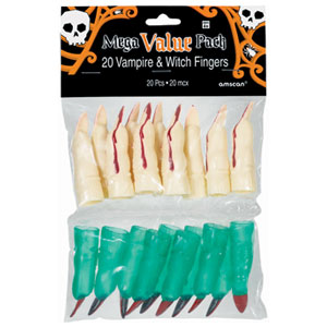 Witch and Vampire Fingers- 20ct