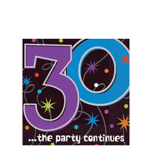 The Party Continues-30 Luncheon Napkins- 16ct