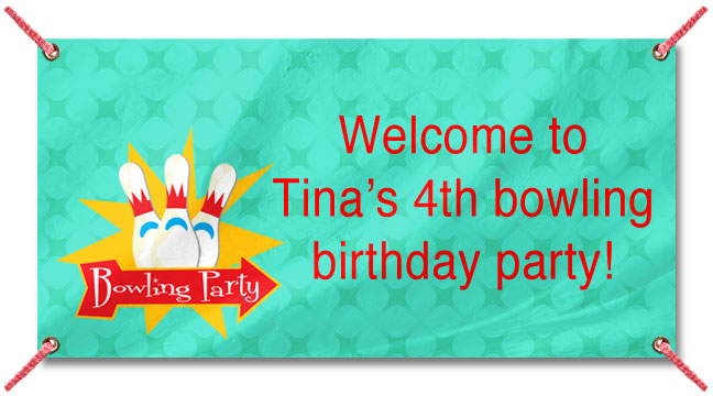 Bowling Party - Custom Banner