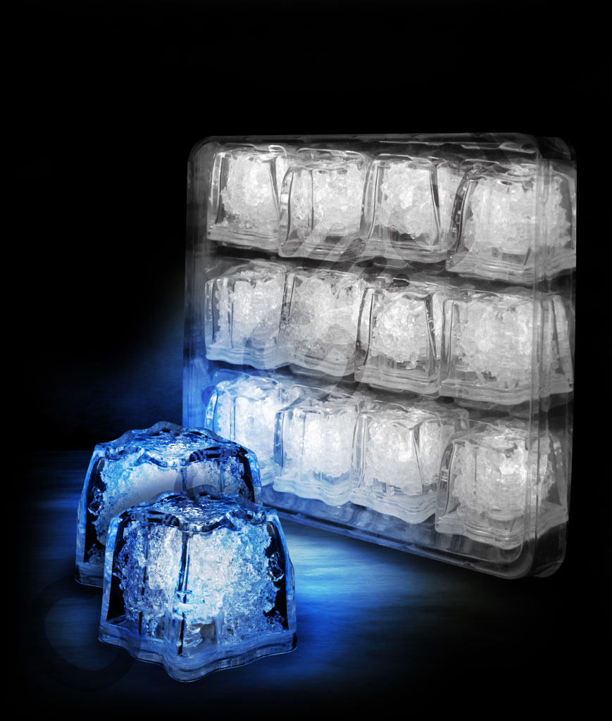 LED Litecubes Brand Ice Cubes - Blue