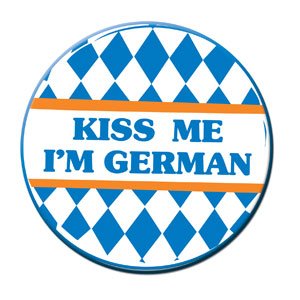 Kiss Me I'm German Button - 3in