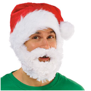Santa Hat with Beard- 26 Inch