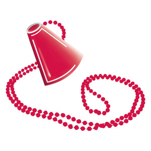 Megaphone Necklace - Red