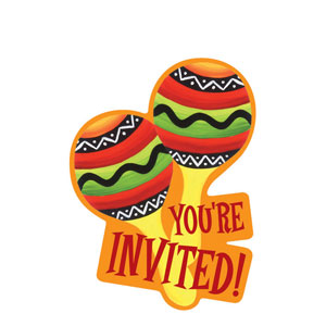Fiesta Stripes Invitations- 8 ct