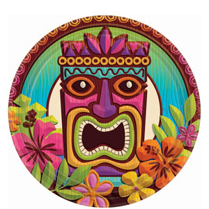 Tropical Tiki 7 inch Plates- 60ct