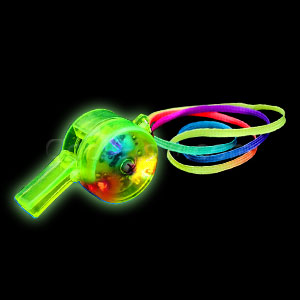 LED Drum Whistles - Green