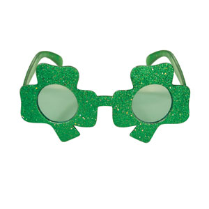 Glittered Shamrock Fanci- Frames