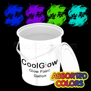 Glominex Glow Paint Invisible Day Assorted Gallons - 4