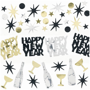 New Years Confetti Value Pack - Black Silver & Gold 1oz.
