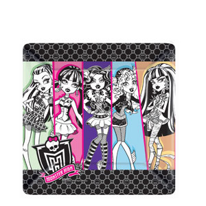 Monster High Square 10 Inch Plates