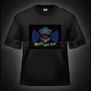 LED Sound Activated T-Shirt - Non-Stop Music