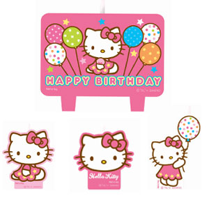 Hello Kitty Balloon Dreams Mini Molded Cake Candles- 4ct