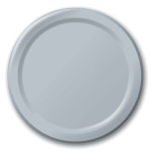 Silver 9 Inch Plates