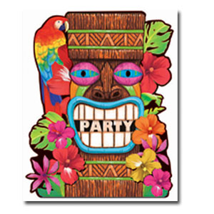 Tiki Summer Invitations- 50ct