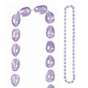 Easter Egg Bead Necklace - Purple