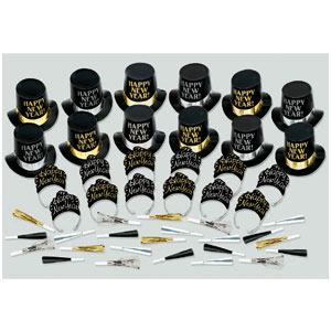 Elegant Affair New Years Party Kit for 25- 51pc