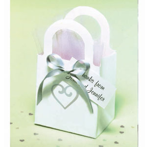 White Heart Wedding Favor Kit - 50 Ct