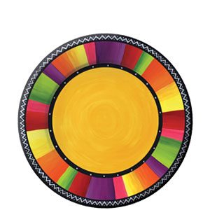 Fiesta Stripes 8 Inch Plates- 8ct