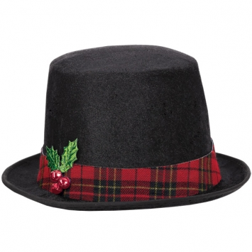 Snowman Fabric Top Hat