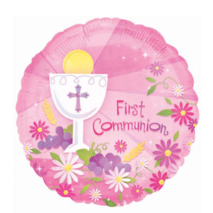 First Communion Pink Balloon - 18 Inch