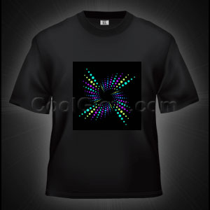 LED Sound Activated T-Shirt - Star Light