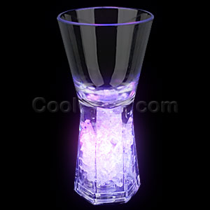 LED Pedestal Shot Glass - Multicolor