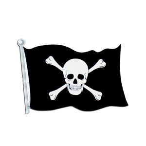 Pirate Flag Cutout - 18inch